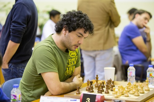 GM Sandro Mareco from Argentine was upset by the current tournament leader