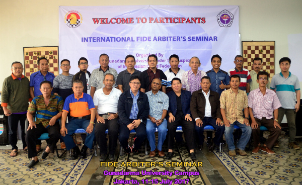 FIDE Arbiters' Seminar in Jakarta, Indonesia