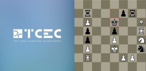 The temporary logo of TCEC is actually a puzzle, scroll down for more information