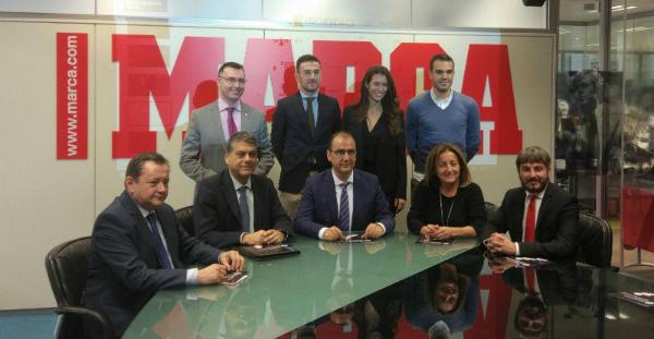FIDE Grand Prix presentation at Marca headquarters