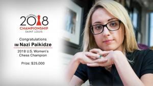 Nazi Paikidze U.S. Women Champion 2018