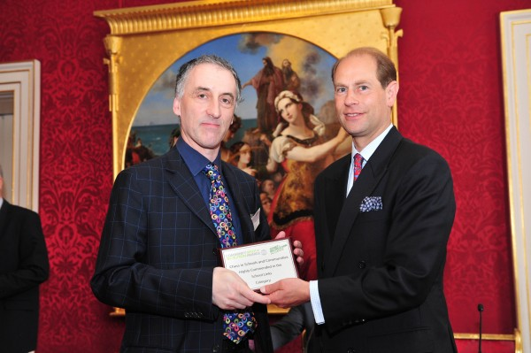 CEO and organizer of London Chess Malcolm Pein named as candidate for FIDE Deputy President (here pictured at a ceremony with Prince  Edward)