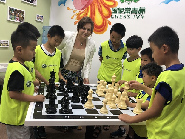Judit Polgar designs educational program for China 2