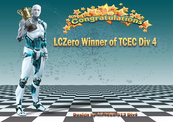 TCEC div 4 - Leela Chess wins gold
