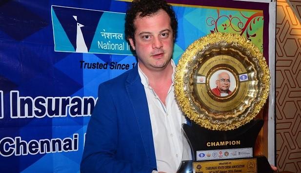 Chennai Open 2019 Champion GM Pantsulaia Levan