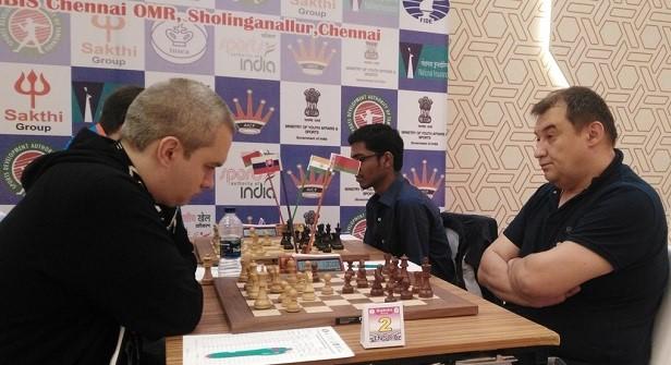 Manik Mikulas (Slovakia) playing Aleksandrov Aleksej (Belarus)