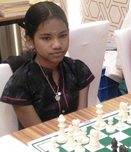 World Under 12 Girls Champion Savitha Shri B